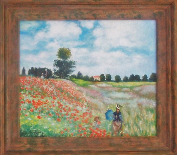 Falsi d 39 autore quadro i papaveri di monet for Quadri con papaveri rossi