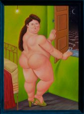 Quadro di Fernando Botero - Woman at the window