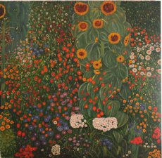 Quadro di Gustav Klimt - Farm Garden With Sunsflowers